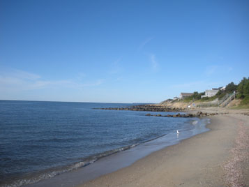private beach on Nantucket Sound